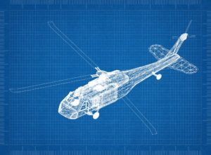 Cad Drawing of Helicopter